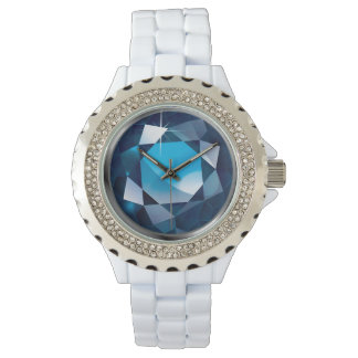 "Sparkling Faux-""Sapphire"" Wristwatch"