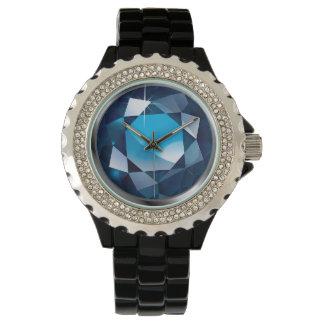"Sparkling Faux-""Sapphire"" Wrist Watch"