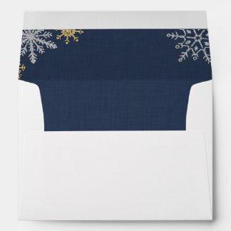 Sparkling Flakes Custom Envelope