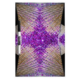 Sparkling Futuristic Design Dry Erase Board