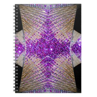 Sparkling Futuristic Designer Notebook