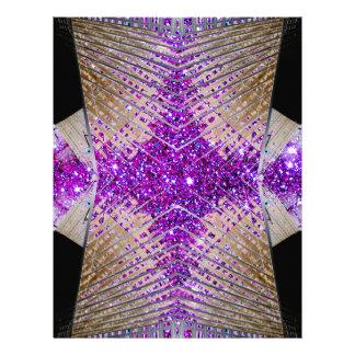 Sparkling Futuristic Flyer Stationery Paper 8.5x11 Letterhead