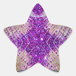 Sparkling Futuristic Star Stickers Collectibles