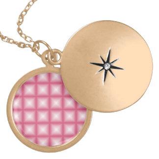 Sparkling Gem Tiles Choose Your Custom Color Gold Plated Necklace