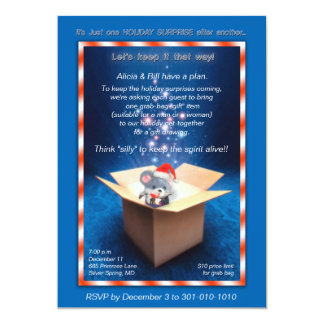 Sparkling Gift Box Christmas Party Invitation