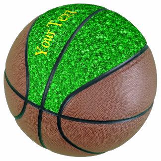 Sparkling glitter basketball
