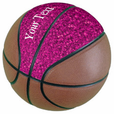 Sparkling Glitter Basketball at Zazzle