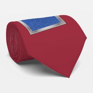 sparkling glitter blue neck tie