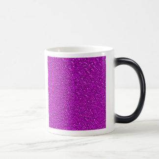 sparkling glitter hot pink 11 oz magic heat Color-Changing coffee mug