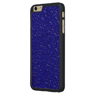 sparkling glitter inky blue carved® maple iPhone 6 plus case