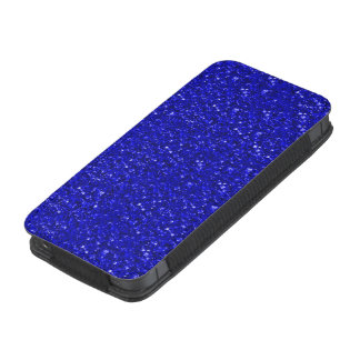 sparkling glitter inky blue iPhone 5 pouch