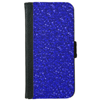 sparkling glitter inky blue iPhone 6 wallet case