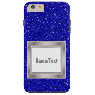 sparkling glitter inky blue tough iPhone 6 plus case