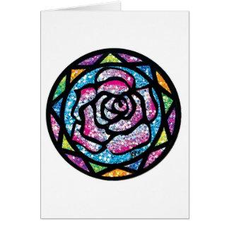 Sparkling Glitter Light Pink Rose Card