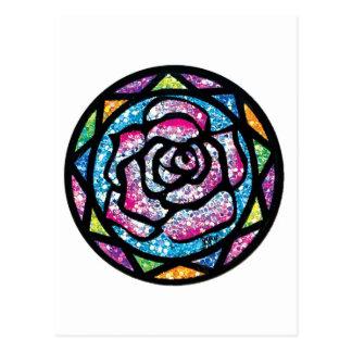 Sparkling Glitter Light Pink Rose Postcard