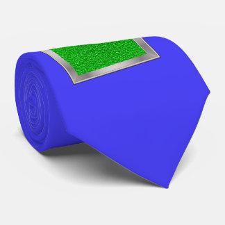 sparkling glitter neon green tie