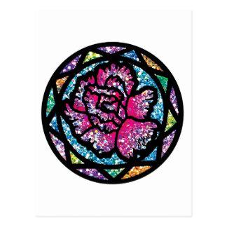 Sparkling Glitter Pink Carnation Postcard