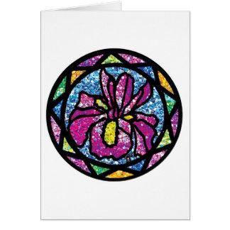Sparkling Glitter Pink Iris Greeting Card