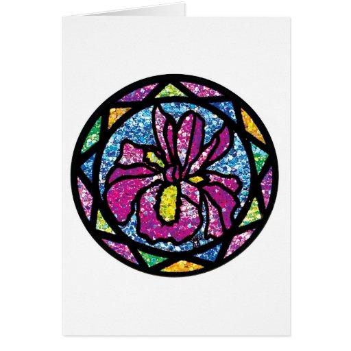 Sparkling Glitter Pink Iris Cards