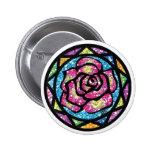 Sparkling Glitter Pink Rose Pin