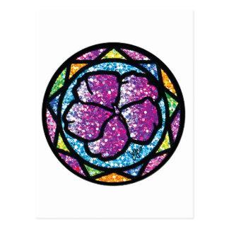 Sparkling Glitter Purple Impatiens Postcard