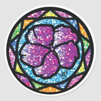 Sparkling Glitter Purple Impatiens Sticker