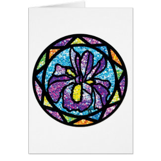 Sparkling Glitter Purple Iris Card