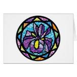 Sparkling Glitter Purple Iris Cards