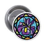 Sparkling Glitter Purple Iris Pinback Button