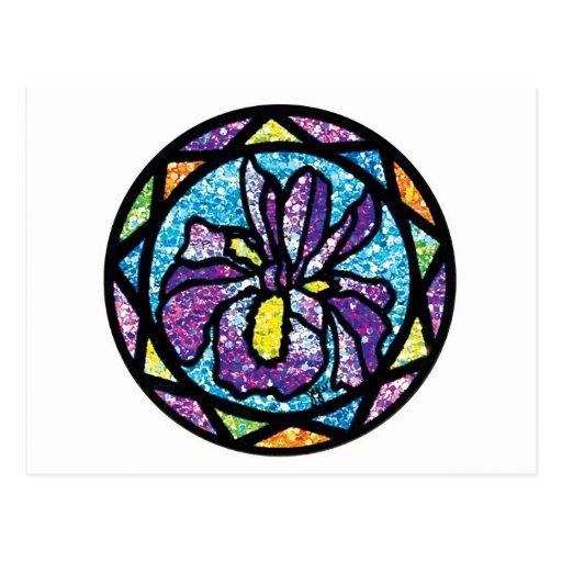 Sparkling Glitter Purple Iris Post Card
