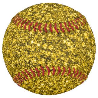 Sparkling glitter softball