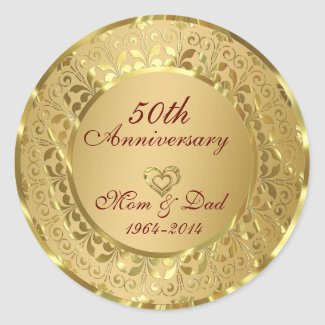 Sparkling Gold 50th Wedding Anniversary