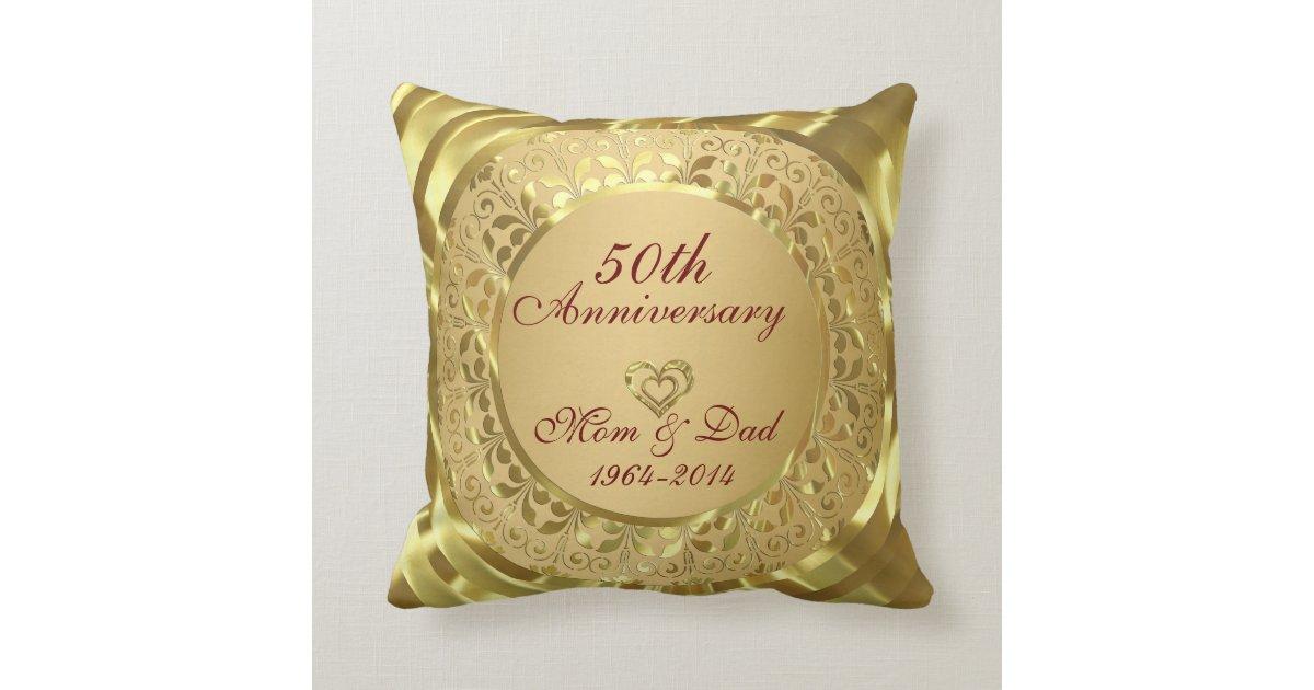 50th Wedding Anniversary Gift Pillows