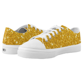 Sparkling Gold Glitter Low-Top Sneakers