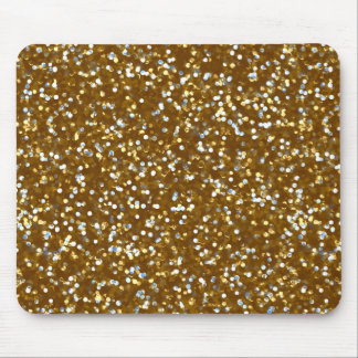 Sparkling Gold Glitter Mouse Pad