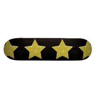 Sparkling Gold Star Skateboard Deck