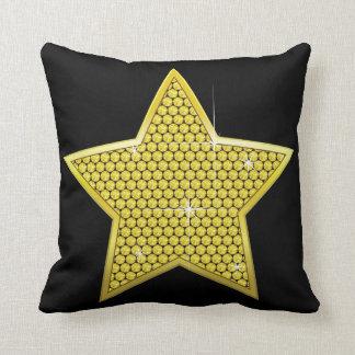 Sparkling Gold Star Throw Pillow