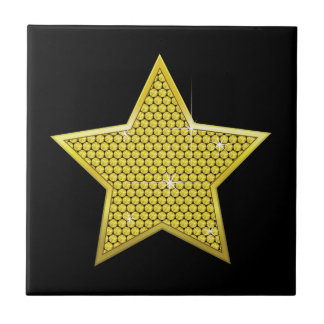 Sparkling Gold Star Tiles