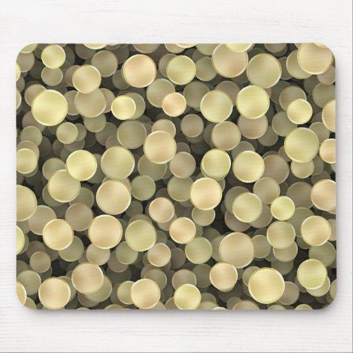 Sparkling Golden Polka Dots Mousepad