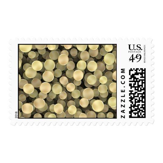 Sparkling Golden Polka Dots Postage