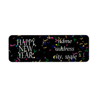 Sparkling Happy New Year Label