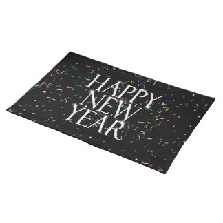 Sparkling Happy New Year Cloth Place Mat