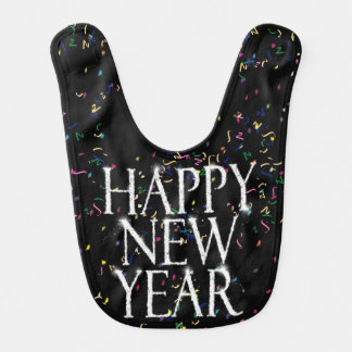 Sparkling Happy New Year Baby Bibs
