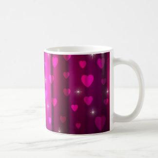 Sparkling Hearts Design Coffee Mug