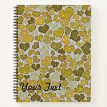 Sparkling hearts notebook