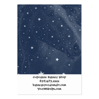 Sparkling Horse Constellation Stars Midnight Blue Large Business Cards (Pack Of 100)