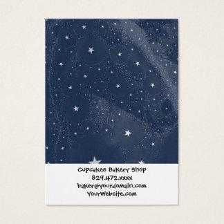 Sparkling Horse Constellation Stars Midnight Blue Business Card