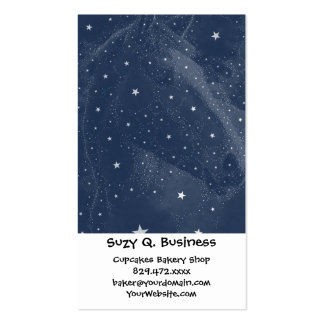 Sparkling Horse Constellation Stars Midnight Blue Double-Sided Standard Business Cards (Pack Of 100)