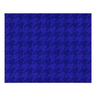 sparkling houndstooth,inky blue (I) Poster