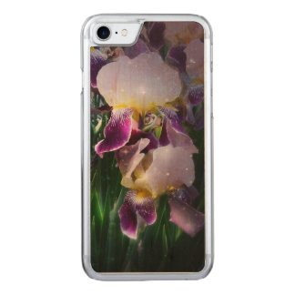 Sparkling Irises Carved iPhone 7 Case